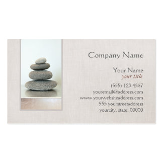 Le zen empilé lapide le carte de visite