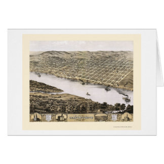 Leavenworth, KS panoramische Karte - 1869