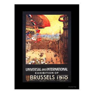 Lebaudy Luftschiff mit Weltflaggen an der Postkarte