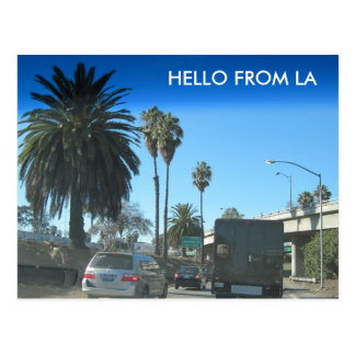Leben auf der Los Angeles-Autobahn Postkarte