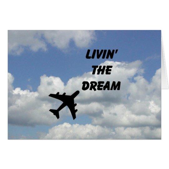Leben die horizontale Traumkarte Grußkarte