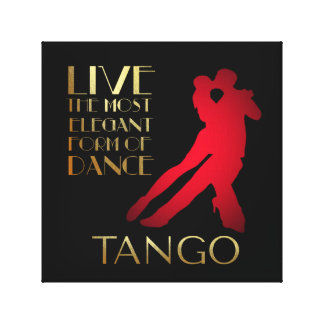 Leben die meiste Elebant Form des Tanzes… Tango Leinwanddruck