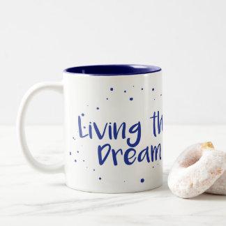 Leben die Traumkaffee-Tasse, Marine Zweifarbige Tasse