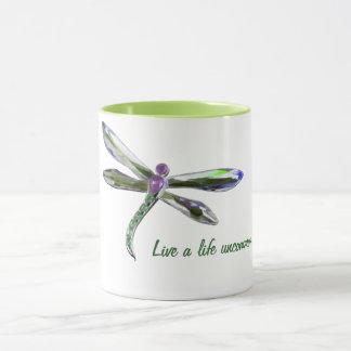 Leben ein seltenes Leben - Libellen-Tasse Tasse