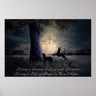Leben ein Traum~ Vollmond, ein Baum und ein Poster