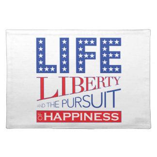 Leben, Freiheit und das Streben nach Glück Tischset