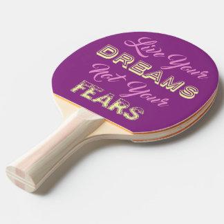 Leben Ihr kundenspezifisches Monogramm der Träume Tischtennis Schläger