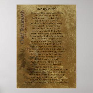 """""""Leben Ihr Leben"""" auf altem Pergament, Poster"""