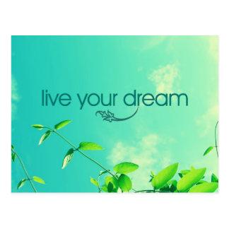Leben Ihr Traum. Vibrierender Himmel Postkarte