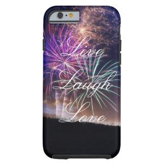 Leben Lachen-Liebe-Feuerwerk-Telefon-Kasten Tough iPhone 6 Hülle