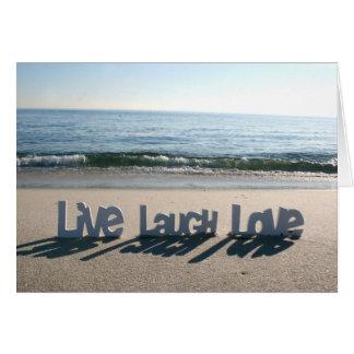 Leben Lachen-Liebe-Karten Grußkarte