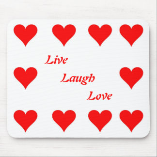 Leben Lachen-Liebe Mauspad