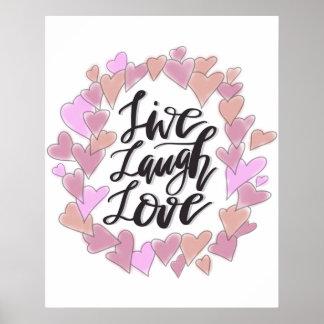 Leben Lachen-Liebe Poster