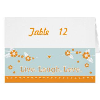 Leben Lachen-Liebe-Tischnummer-Karte #2 Karte