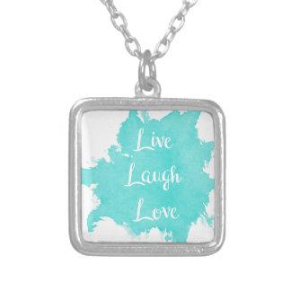 Leben Lachen-Liebe Versilberte Kette