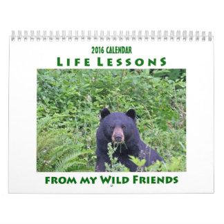 Leben-Lektions-Tierkalender 2016 Kalender