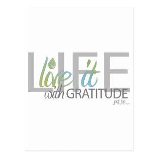 LEBEN Live es mit Dankbarkeit Postkarten