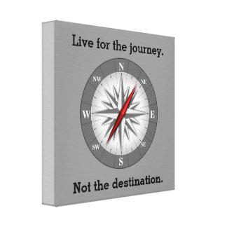 Leben Sie für die Reise - Leinwand-Druck Galerie Gefaltete Leinwand