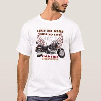 Leben Sie, um Ebene 6 Valkyrie Motorradentwurf zu T-Shirt
