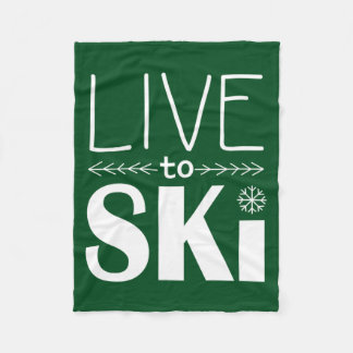 Leben Sie, um Ski zu fahren Grün der Decke