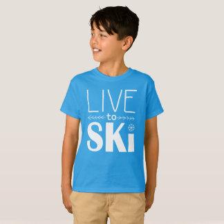 Leben Sie, um Ski zu fahren KinderShirt T-Shirt
