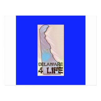 "Leben-"" Staats-Karten-Stolz-Entwurf ""Delawares 4 Postkarte"