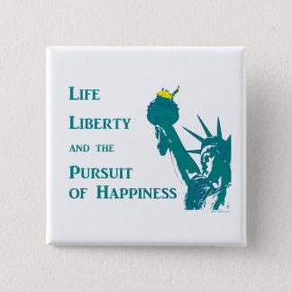 Leben und Freiheit Quadratischer Button 5,1 Cm