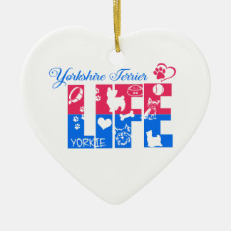 Leben-Verzierung Yorkshires Terrier Keramik Ornament
