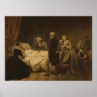 Leben von George Washington der christliche Tod Poster