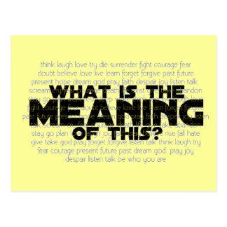 Leben: Was ist die Bedeutung von diesem? Postkarte