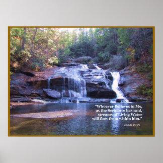 Lebender Wasser-John-7:38 PLAKAT-DRUCK Poster