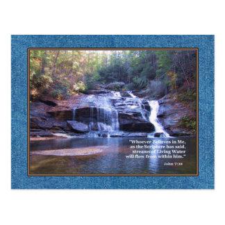 Lebendes Wasser-John-7:38 Postkarte