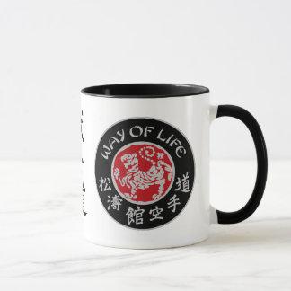 Lebensart Shotokan dunkle Logo-Kaffee-Tasse Tasse