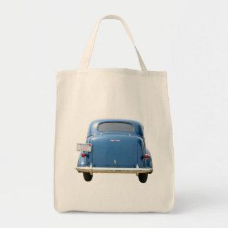 Lebensmittelgeschäft-Tasche - der Vintage blaue Einkaufstasche