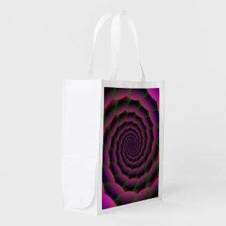 Lebensmittelgeschäft-Taschen-Seil-Spirale in lila Wiederverwendbare Einkaufstasche