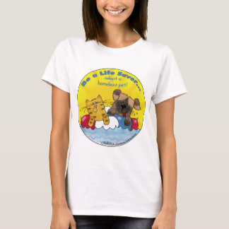 Lebensretter adoptieren obdachlose Haustiere T-Shirt