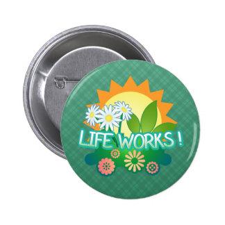 Lebenswerke! Knopf Runder Button 5,7 Cm