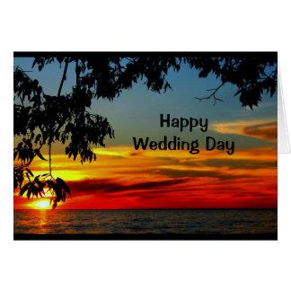 Lebenszeit der schönen Morgen-Hochzeits-Karte Karte