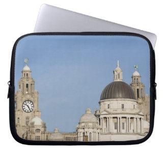 Leber-Gebäude, Liverpool, England Laptop Sleeve Schutzhüllen