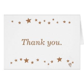 Lebhafter Jahrestag der Goldstern-50. danken Ihnen Karte