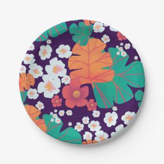 Lebhaftes Blumen- und Blätter schwimmend in Teich Pappteller 17,8 Cm