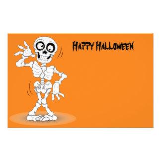 Lebhaftes Halloween-Skelett 14 X 21,6 Cm Flyer