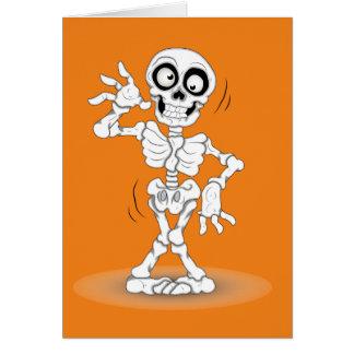 Lebhaftes Halloween-Skelett Grußkarte
