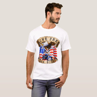 Lebhaftfreies oder die, Motorrad-Patriot, Adler, T-Shirt