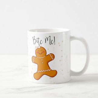 Lebkuchen-Frau, beißen mich Feiertags-Tasse Kaffeetasse