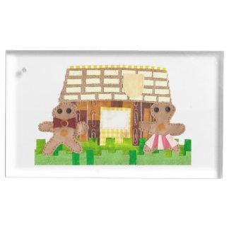 Lebkuchen-Haus-Paar-Tabellen-Kartenhalter