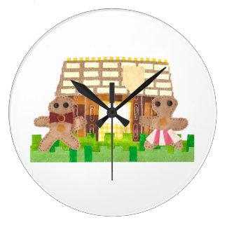 Lebkuchen-Haus-Paar-Uhr Große Wanduhr