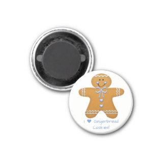 Lebkuchen-Jungen-Kühlschrankmagnet Runder Magnet 3,2 Cm