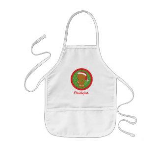 Lebkuchen-Jungen-personalisierte Kinderschürze