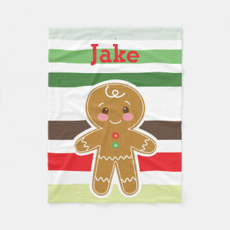 Lebkuchen-Jungen-Weihnachtsdecke Fleecedecke